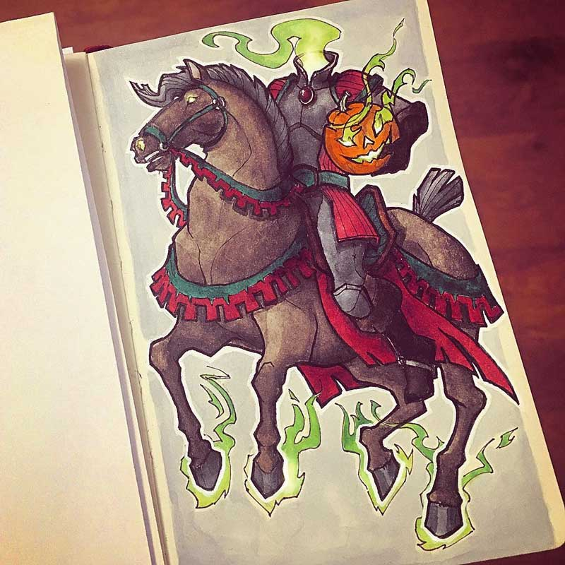 Headless horseman by Silartworks
