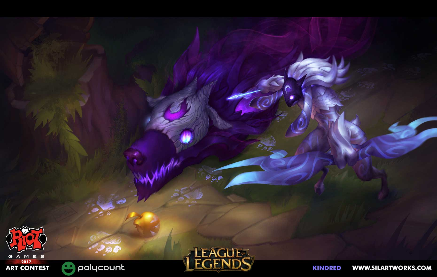 Kindred league of legends by Silartworks