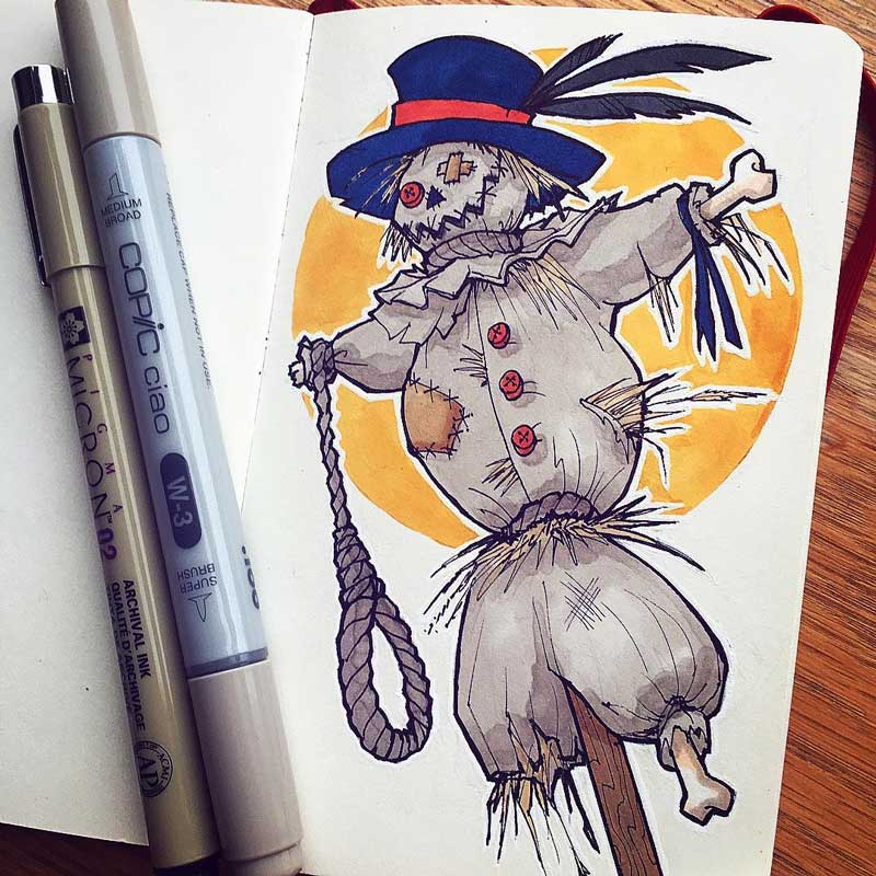 Scarecrow by Silartworks