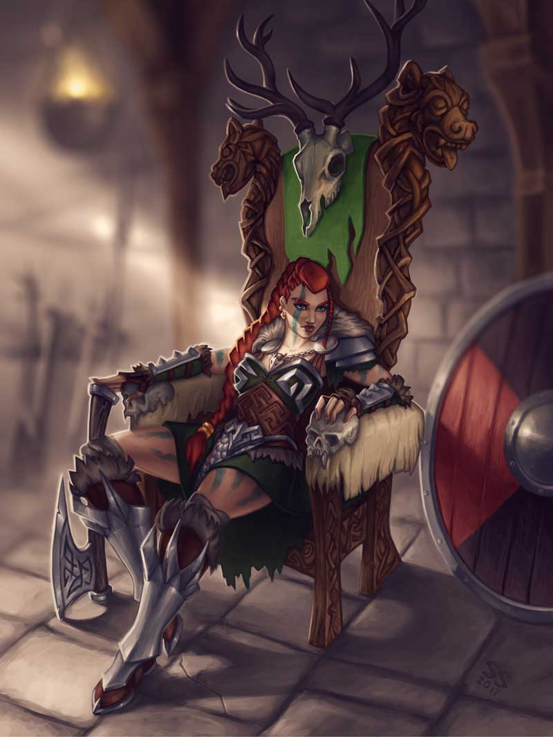 Viking queen by Silartworks