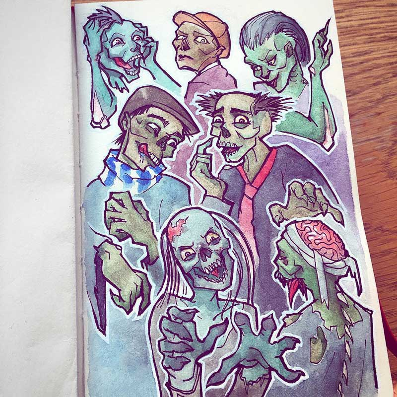 Zombies by Silartworks