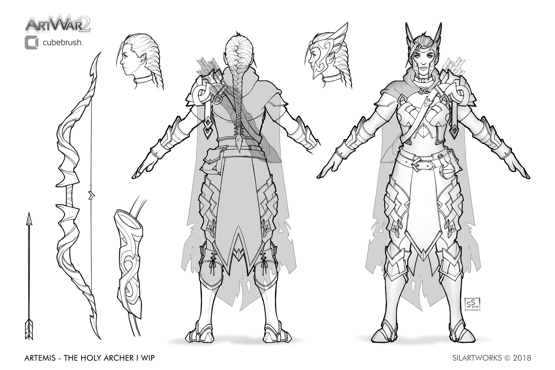 Artemis holy archer concept by Silartworks