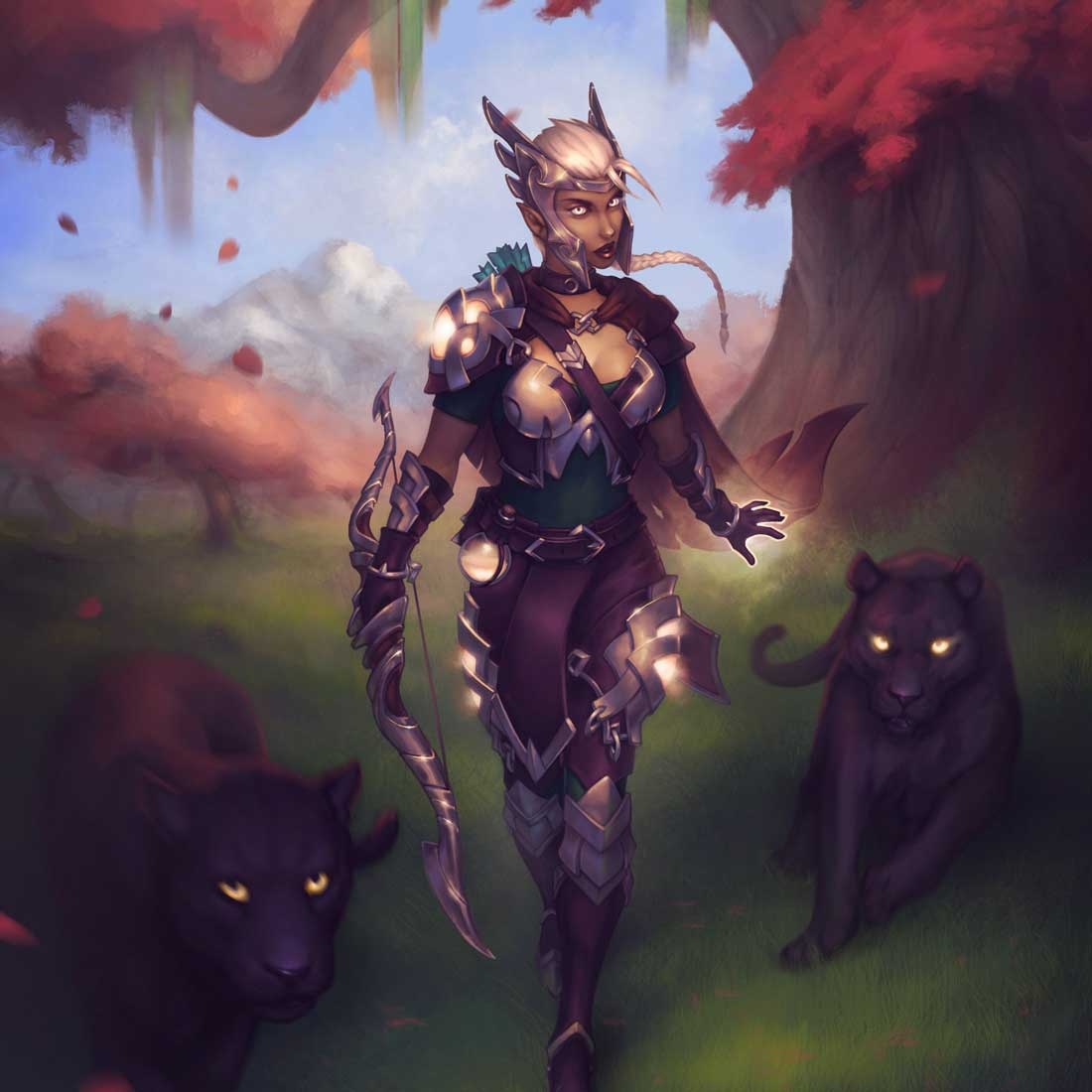 Artemis the holy archer artwar 2 by Silartworks