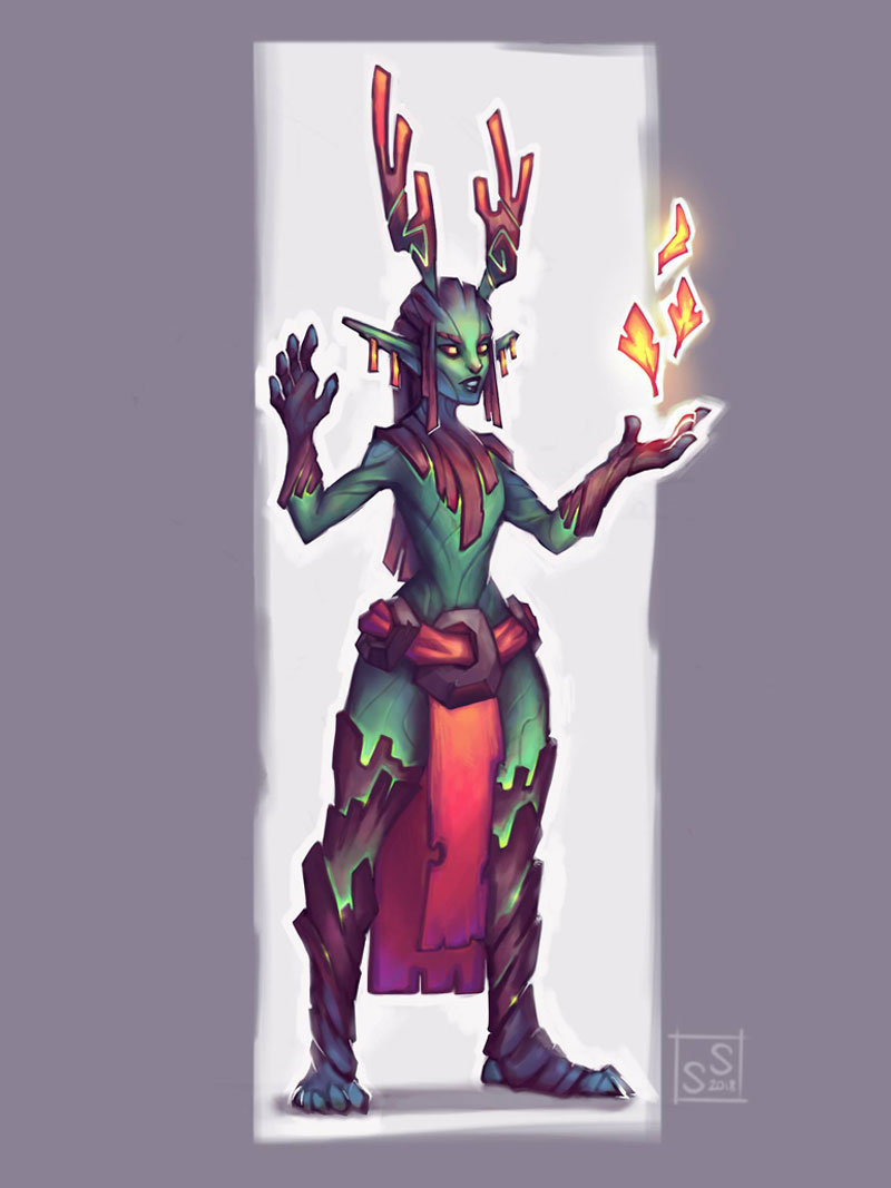 Spring druid by Silartworks